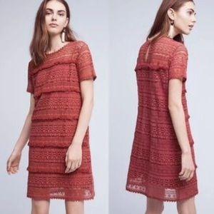 Anthropologie Dress Lace Zero To Sky 02Sky Rose